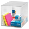 "Sparco Desktop Storage Organizer - 6"" Height x 6"" Width x 6"" Depth - Desktop - Clear - 1Each"