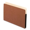 "Smart Shield File Pockets - Letter - 8 1/2"" x 11"" Sheet Size - 3 1/2"" Expansion - 11 pt. Folder Thickness - Redrope - Red Fiber - 10 / Box"