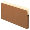 "Smart Shield File Pockets - Legal - 8 1/2"" x 14"" Sheet Size - 3 1/2"" Expansion - 11 pt. Folder Thickness - Redrope - Red Fiber - 10 / Box"