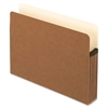 "Smart Shield File Pockets - Letter - 8 1/2"" x 11"" Sheet Size - 5 1/4"" Expansion - 11 pt. Folder Thickness - Redrope - Red Fiber - 10 / Box"
