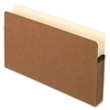 "Smart Shield File Pockets - Legal - 8 1/2"" x 14"" Sheet Size - 5 1/4"" Expansion - 11 pt. Folder Thickness - Redrope - Red Fiber - 10 / Box"