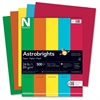 "Astrobrights Colored Paper - Letter - 8.50"" x 11"" - 24 lb Basis Weight - Recycled - 30% Recycled Content - 500 / Ream - Assorted, Gamma Green, Re-entry Red, Orbit Orange, Sunburst Yellow"