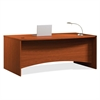 "Mayline Brighton Bow Front Desk - 72"" x 39"" x 29"" - Finish: Cherry, Laminate"