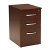 "Napoli NBBF Box-Box-File Pedestal - 15.3"" Width x 21.3"" Depth x 26"" Height - 3 - Veneer, Wood - Sierra Cherry"