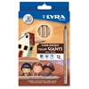 Lyra Color-Giants Skin Tone Colored Pencils - 6.3 mm Lead Diameter - Assorted Lead - 12 / Set