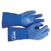 MCR Safety Blue Coat Seamless Gloves - Large Size - Polyvinyl Chloride (PVC) - Blue - Seamless - 2 / Pair