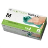 Medline Aloetouch Ultra Examination Gloves - Medium Size - Green - Vinyl - Latex-free, Powder-free, Moisture Resistant - 100 / Box