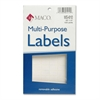 "MACO White Multi-Purpose Labels - Removable Adhesive - 0.38"" Width x 0.63"" Length - Rectangle - White - 1000 / Box"