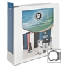 "Business Source Round Ring View Binder - 3"" Binder Capacity - Letter - 8 1/2"" x 11"" Sheet Size - 625 Sheet Capacity - Round Ring Fastener - 2 Internal Pocket(s) - Polypropylene - White - 1 Each"