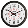 "Lorell 14"" Round Radio Controlled Wall Clock - Analog - Quartz"