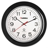 "Lorell 13-1/4"" Radio Controlled Wall Clock - Analog - Quartz - Atomic"