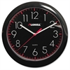 "Lorell 10"" Quartz Black Face Wall Clock - Quartz"