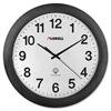 "Lorell 12"" Round Radio Controlled Wall Clock - Analog - Quartz - Atomic"