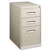 "Lorell Box/Box/File Mobile Pedestal Files - 15"" x 22"" x 27.8"" - 3 x Drawer(s) for Box, File - Letter - Security Lock, Ball-bearing Suspension - Putty - Powder Coated - Steel - Recycled"