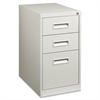"Lorell Box/Box/File Mobile Pedestal Files - 15"" x 19"" x 28"" - 3 x Drawer(s) for Box, File - Letter - Security Lock, Ball-bearing Suspension - Light Gray - Powder Coated - Steel - Recycled"