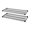 "4-Tier Wire Rack with Shelves - 48"" x 18"" x 1.6"" - 4 x Shelf(ves) - 4000 lb Load Capacity - Black - Steel"