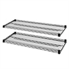 "Lorell Industrial Wire Shelving - 36"" x 24"" x 1.6"" - 2 x Shelf(ves) - 4000 lb Load Capacity - Black - Steel"