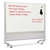 "Balt Mobile Dry-erase Double-sided Partition - 76"" (6.3 ft) Width x 74"" (6.2 ft) Height - Porcelain Steel Surface - Rectangle - Assembly Required - 1 Each"