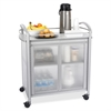 "Safco Impromptu Refreshment Cart - 4 Casters - 34"" Width x 21.3"" Depth x 36.5"" Height - Steel Frame - Gray"