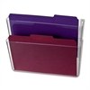 "Space Saving Filing System - 10.6"" Height x 13"" Width x 4.1"" Depth - Partition-mountable, Wall Mountable - Clear - Plastic - 2 / Box"