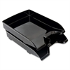 "Sparco Front-Load Stacking Letter Trays - 1.8"" Height x 9.9"" Width x 13"" Depth - Desktop - Black - Polystyrene - 2 / Pack"