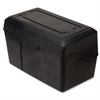 "Advantus Index Card Holder - 4.8"" x 7"" x 4.8"" - Plastic - 1 Each - Black"