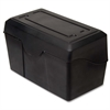 "Advantus Index Card Holder - 5.9"" x 9"" x 5.5"" - Plastic - 1 Each - Black"