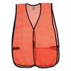 OccuNomix General Purpose Safety Vest - Mesh - Orange - 1 Each