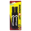 Avery Marks-A-Lot Permanent Marker - 4.76 mm Point Size - Chisel Point Style - Black - 2 / Pack