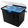 "File Storage Box - External Dimensions: 10.5"" Width x 14.8"" Depth x 10.8""Height - Media Size Supported: Letter - Latching Closure - Stackable - Black - For File - Recycled -"