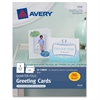 "Avery Greeting Card - 4.25"" x 5.50"" - Matte - 20 / Pack - White"
