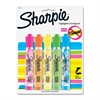 Sharpie Accent Highlighter - Chisel Point Style - Fluorescent Green, Fluorescent Orange, Fluorescent Pink, Fluorescent Yellow, Blue - Translucent Barrel - 5 / Pack