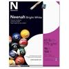"Neenah Card Stock - Letter - 8.50"" x 11"" - 65 lb Basis Weight - Smooth - 100 / Pack - Bright White"