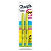 Sharpie Accent Highlighters w/Smear Guard - Chisel Point Style - Fluorescent Yellow - 2 / Pack
