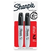 Sharpie Permanet Marker - Chisel Point Style - Black Alcohol Based Ink - 2 / Pack
