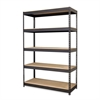 "Hirsh Riveted Boltless Shelf Unit - 72"" x 48"" x 18"" - 5 x Shelf(ves) - 3800 lb Load Capacity - Rust Resistant, Heavy Duty - Black - Powder Coated - Steel - Recycled - Assembly Required"