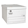 "Business Source Economy Storage Box w/ Lid - External Dimensions: 12"" Width x 15"" Depth x 10""Height - 350 lb - Media Size Supported: Legal, Letter - Light Duty - Stackable - White - For File - Recycle"