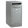 "Sentry Safe Under Counter Depository Safe - 0.39 ft³ - Key Lock - Internal Size 9.96"" x 7.76"" x 8.50"" - Overall Size 12"" x 8"" x 10.3"" - Gray - Steel"