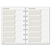 """Day Runner Telephone/Address Planner Pages - 5.50"""" x 8.50"""" - 7-ring - White - Phone Directory, Address Directory, Hole-punched"""