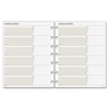 "Day Runner Telephone/Address Planner Pages - 8.50"" x 11"" - 6-ring - White - Phone Directory, Address Directory, Hole-punched"