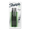 Sharpie Retractable Fine Tip Pens - Fine Point Type - 0.3 mm Point Size - Black - Black Barrel - 3 / Pack
