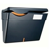 "Security Wall File - 1 Pocket(s) - 9.8"" Height x 13.3"" Width x 4.8"" Depth - Wall Mountable - Recycled - Black - Plastic - 1Each"