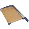 "Westcott Paper Trimmer - Cuts 10Sheet - 18"" Cutting Length - 3"" Height x 26"" Width x 13.6"" Depth - Stainless Steel Blade, Wood Base - Blue, Wood Grain"