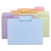 "Colored SuperTab® Folders - Letter - 8 1/2"" x 11"" Sheet Size - 3/4"" Expansion - 1/3 Tab Cut - Assorted Position Tab Location - 11 pt. Folder Thickness - Assorted - Recycled - 24 / Pack"