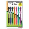 Zebra Pen Z-Grip Ballpoint Pen - Medium Point Type - 1 mm Point Size - Assorted - Assorted Barrel - 7 / Pack