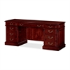 "DMi Keswick 7990-21 Kneehole Credenza - 72"" x 24"" x 30"" - Double Pedestal - Material: Wood - Finish: Cherry, English Cherry, Veneer"