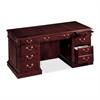 "DMi Keswick 7990-30 Executive Desk - 66"" x 30"" x 30"" - Double Pedestal - Material: Wood - Finish: Cherry, English Cherry, Veneer, High Pressure Laminate (HPL)"