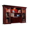 "Keswick 7990-64 Executive Overhead Storage Hutch - 72"" x 15"" x 50"" - 6 Shelve(s) - Material: Glass Door - Finish: Cherry, English Cherry, Veneer"