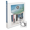 "Business Source Slanted Ring Presentation Binder - 1"" Binder Capacity - D-Ring Fastener - Polypropylene - White - 1 Each"