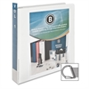 "Business Source Slanted Ring Presentation Binder - 1 1/2"" Binder Capacity - D-Ring Fastener - Polypropylene - White - 1 Each"